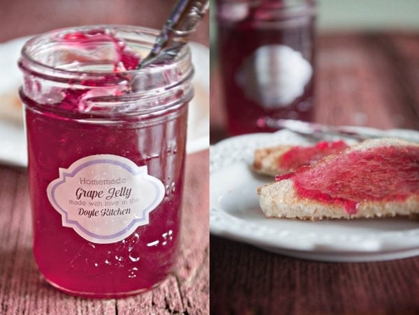 homemade grape jelly duo dine and dish