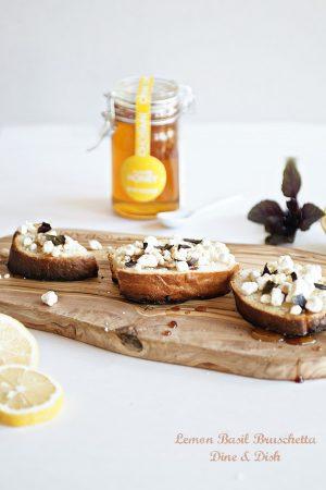 Lemon Basil Bruschetta by www.dineanddish.net