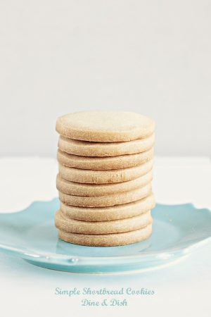 3 Ingredient Simple Shortbread Cookies