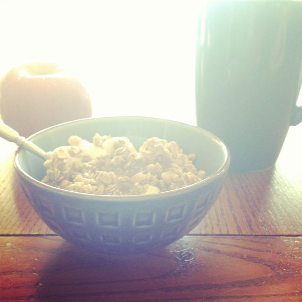 Chobani Yogurt with granola and honey