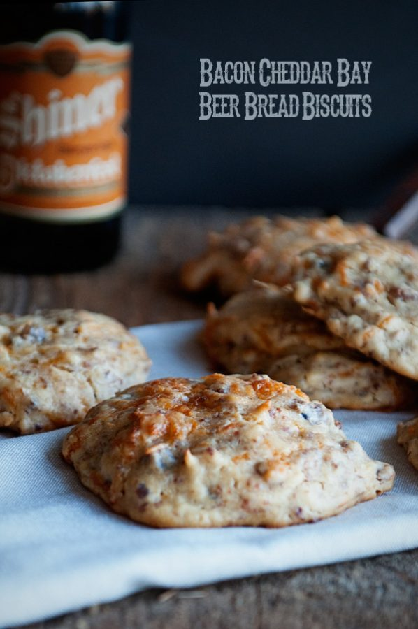 Bacon Cheddar Bay Beer Bread Biscuits from www.dineanddish.net