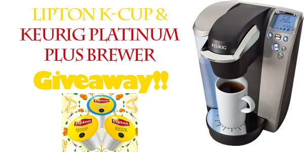 Lipton K-Cup and Keurig Platinum Brewer Giveaway www.dineanddish.net