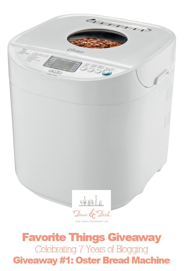 Oster Bread Machine Giveaway dineanddish.net