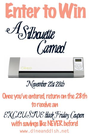 Silhouette Cameo Giveaway and BLACK FRIDAY Announcement!