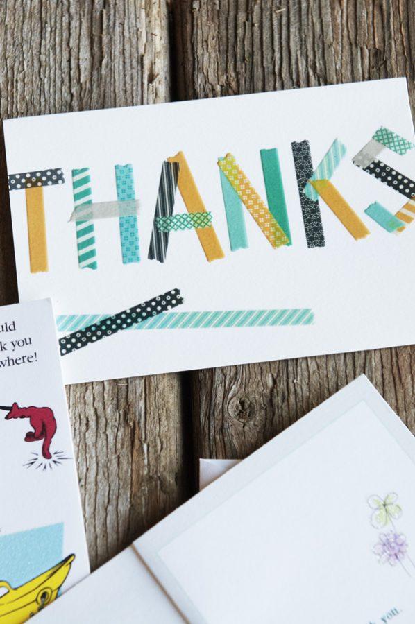 Thanks card from Hallmark