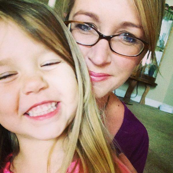 leah feeling better selfie with mom