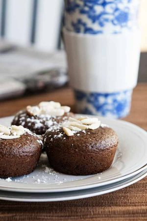 Chocolate Almond Muffin Recipe from dineanddish.net