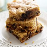 Chocolate Chip Cookie Bars for #ElleAPalooza