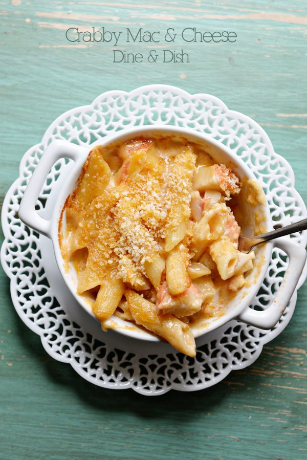 Crabby Mac and Cheese Recipe from www.dineanddish.net