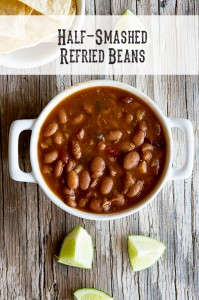 Boys {Recipe: Half-Smashed Refried Beans}