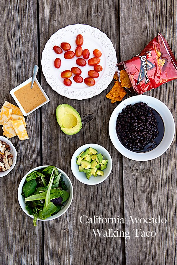California Avocado Walking Tacos www.dineanddish.net