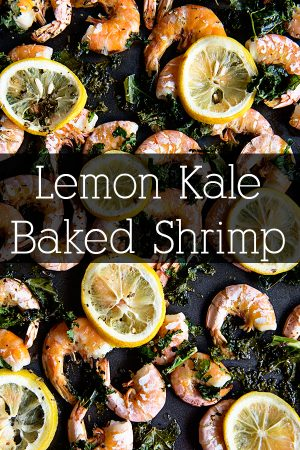 A simple and flavorful Lemon Kale Baked Shrimp from www.dineanddish.net #ApothicWhite