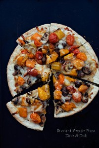 Roasted Veggie Pizza for #PizzaWeek