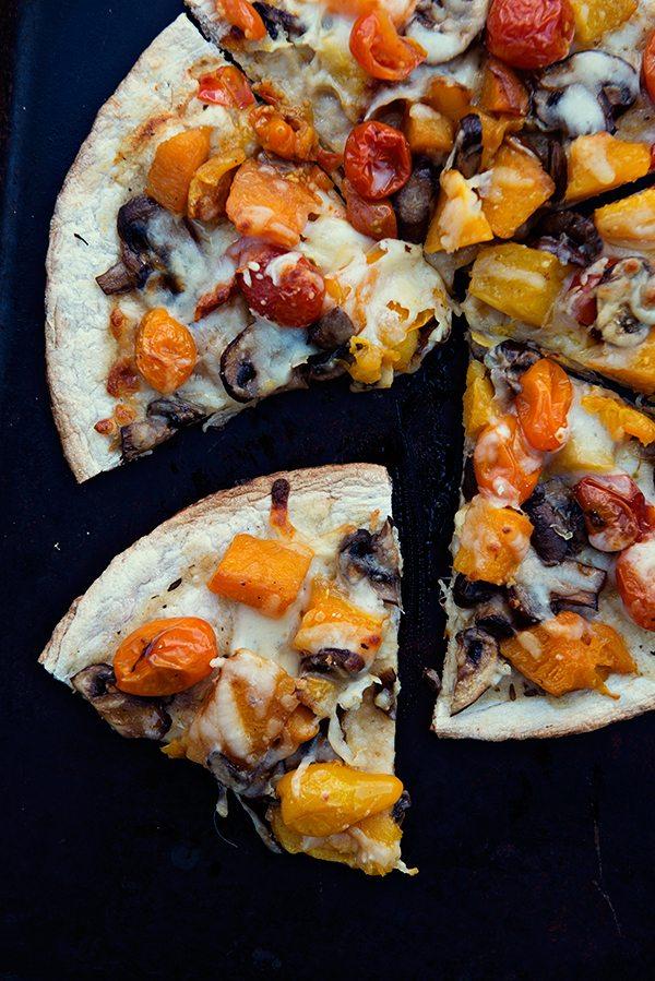 Oven Roasted Veggie Pizza #PizzaWeek dineanddish.net