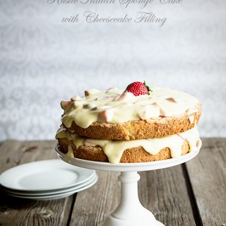 Rustic Italian Sponge Cake with Creamy Cheesecake Filling