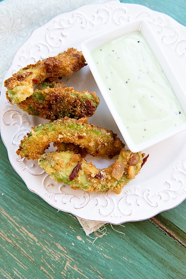 Bacon California Avocado Fries from www.dineanddish.net