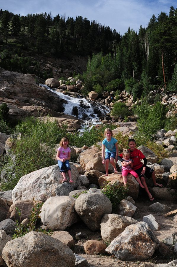 Kids at Alluvial Fan in RMNP