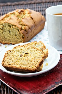Pistachio Avocado Quick Bread from dineanddish.net