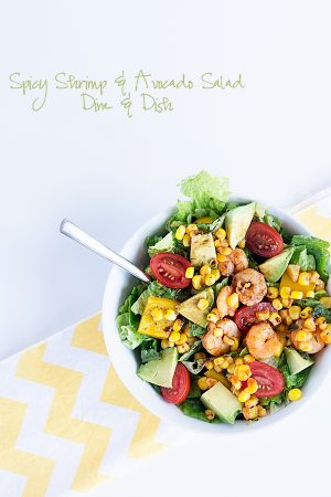 Spicy Siracha Shrimp and Fresh California Avocado Salad - because sometimes you want just a little spice in your life!
