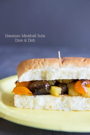 For the Dads {Recipe: Hawaiian Meatball Subs}