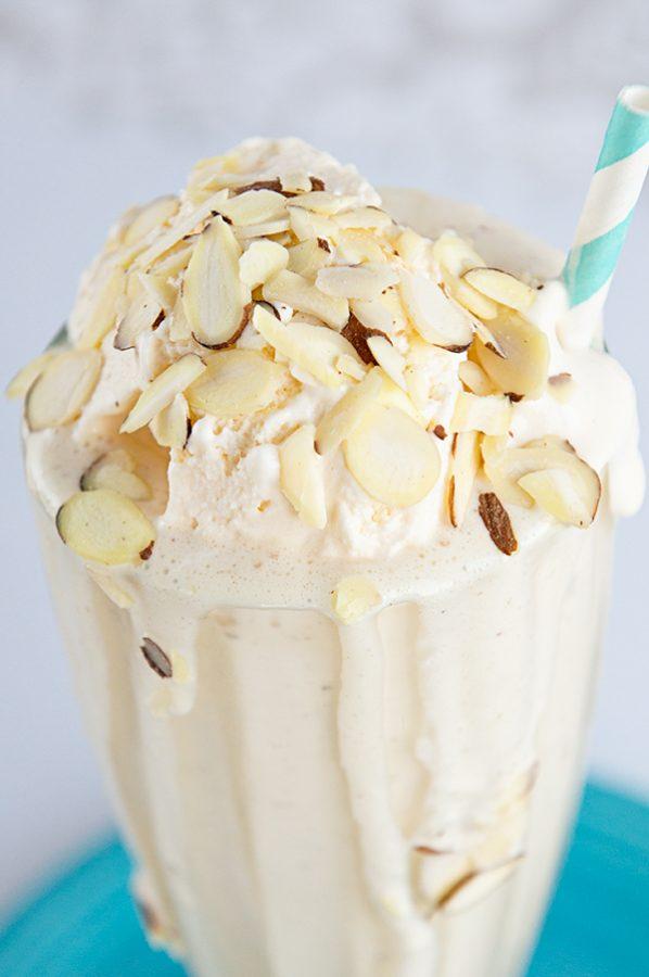 Honey Almond Milkshake Recipe from dineanddish.net