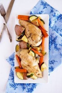 Our Space {Recipe: Garden Vegetable Roasted Chicken}