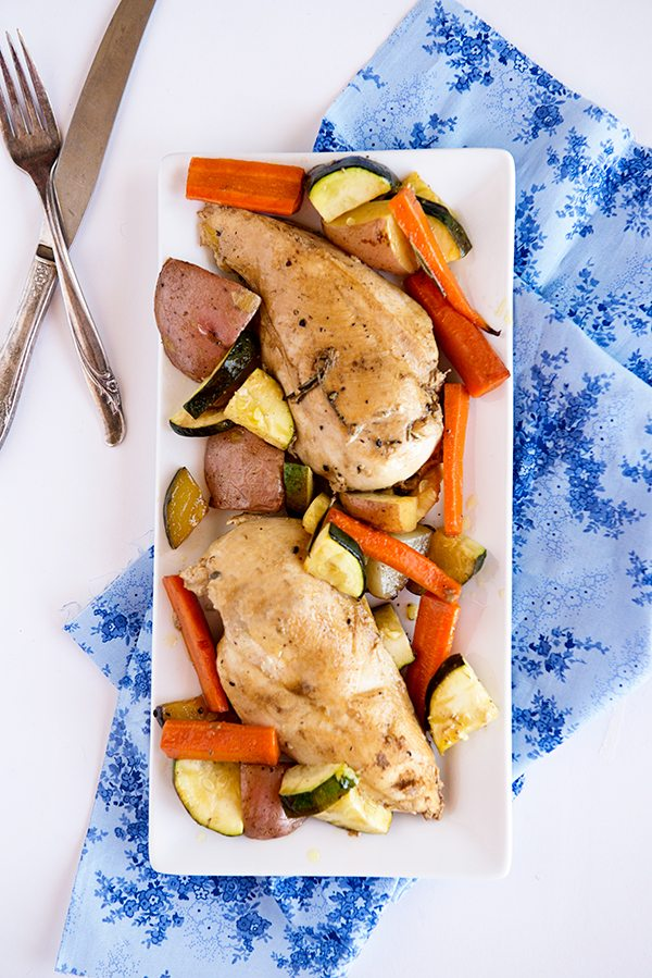 Garden Vegetable Roasted Chicken