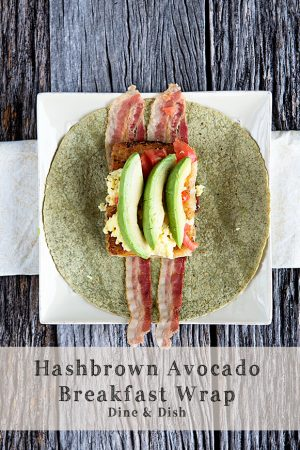 Inspiration {Recipe: Hash Brown Avocado Breakfast Wrap}