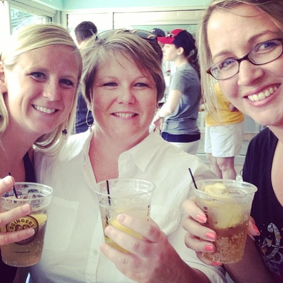 Drinking a Big Ginger at Target Field