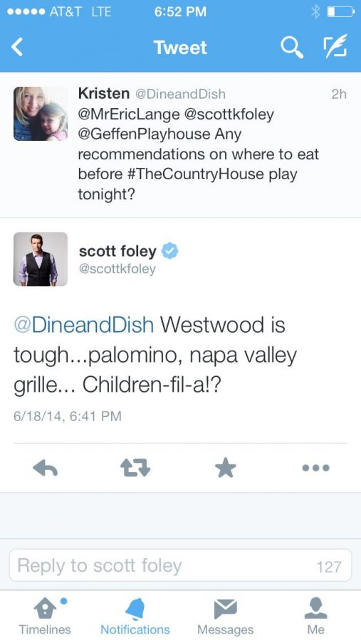 Tweet with Scott Foley