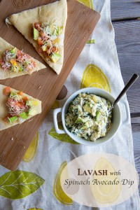 Labor Day Entertaining {Recipe: Lavash with Spinach Avocado Dip}