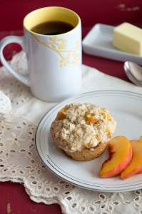 Bed and Breakfast Style Peach Crunch Muffins Recipe