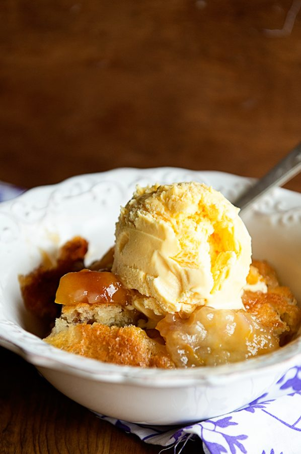 Super Simple Peach Cobbler Recipe from dineanddish.net