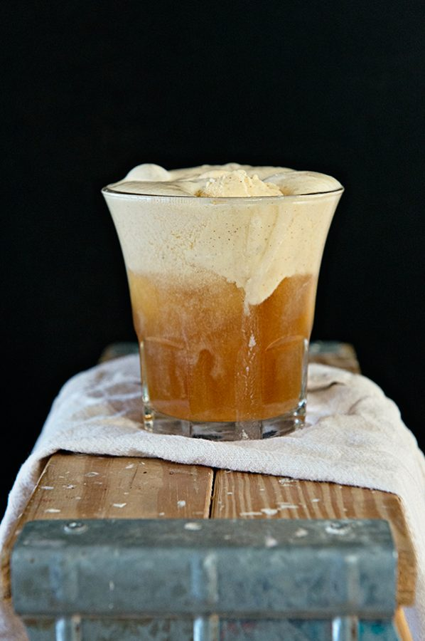 Hard Cider Pumpkin Ale Float from dineanddish.net