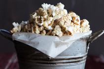 Pumpkin Pie Spiced Popcorn Recipe from dineanddish.net