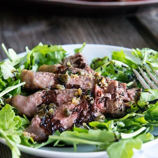 Tuscan Steak Salad on dineanddish.net