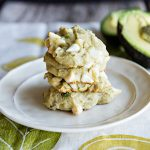 White Chocolate Avocado Cookies - Baking with Avocados never tasted so good! From dineanddish.net
