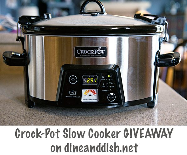 Crock-Pot Slow Cooker Giveaway on dineanddish.net