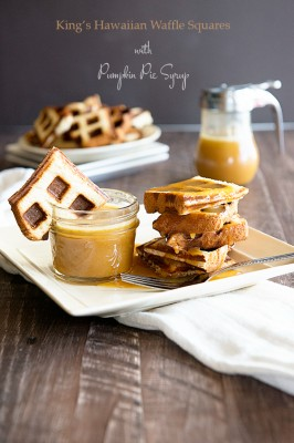 Easy Breakfast Recipes – King's Hawaiian Waffles with Pumpkin Syrup
