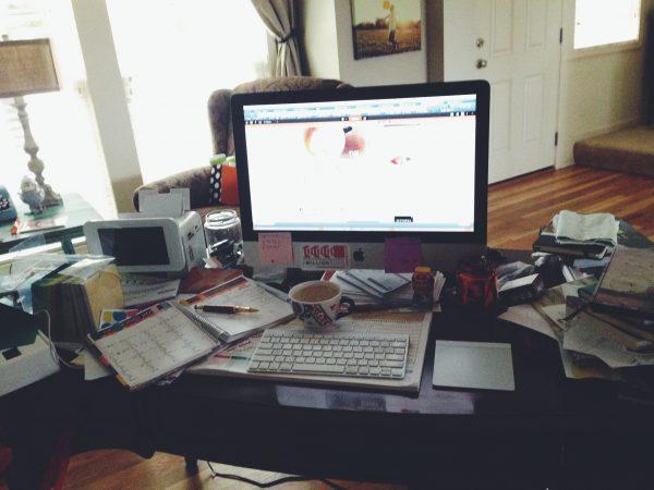 Messy Desk DineandDish