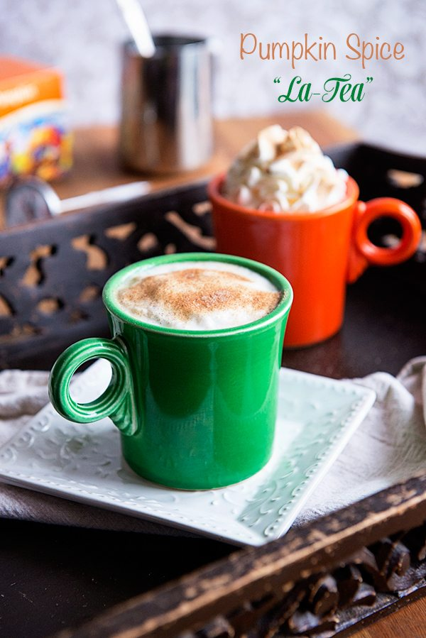 tea time pumpkin spice tea latte recipe dine and dish