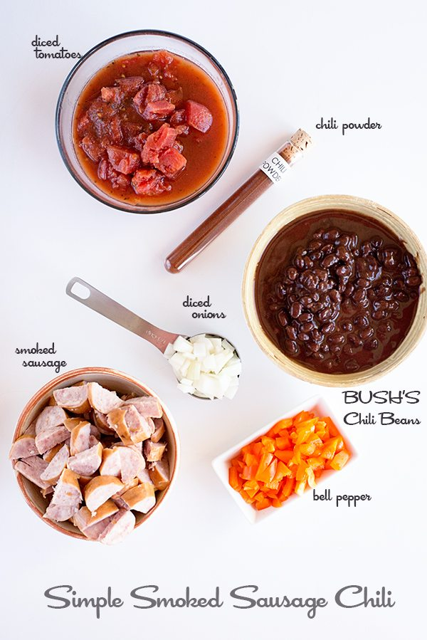 Smoked Sausage Chili Recipe Ingredients