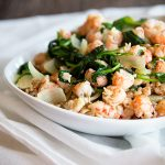 Farro with Langostino Tails and Spinach