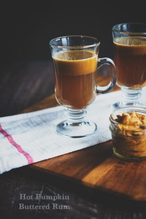 Hot Buttered Rum Cocktail gets a fall update with pumpkin spice butter!