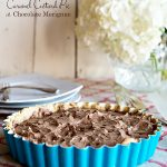 Caramel Custard Pie with Chocolate Meringue Recipe