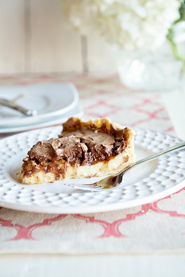 Caramel Custard Pie with fluffy Chocolate Meringue Recipe