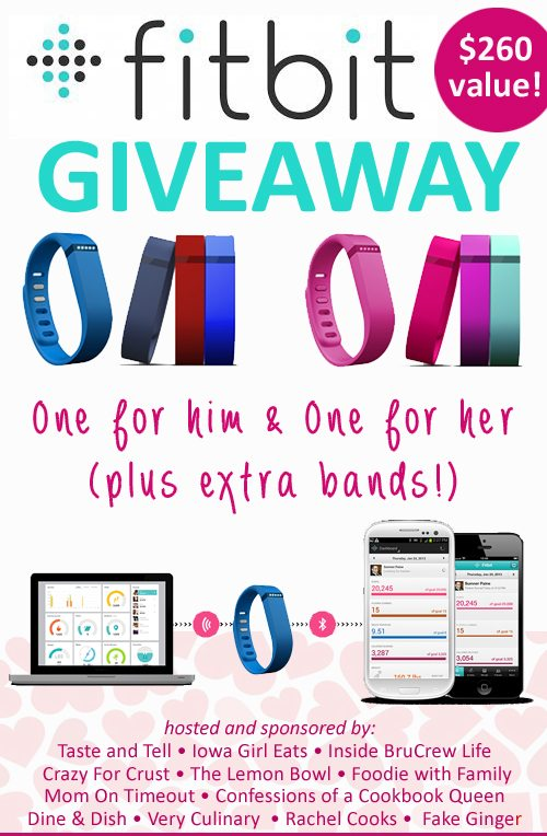 Enter to win a HUGE FitBit Giveaway on dineanddish.net