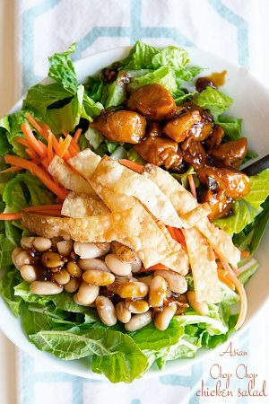 Houlihan's Copycat Asian Chop Chop Chicken Salad Recipe on dineanddish.net