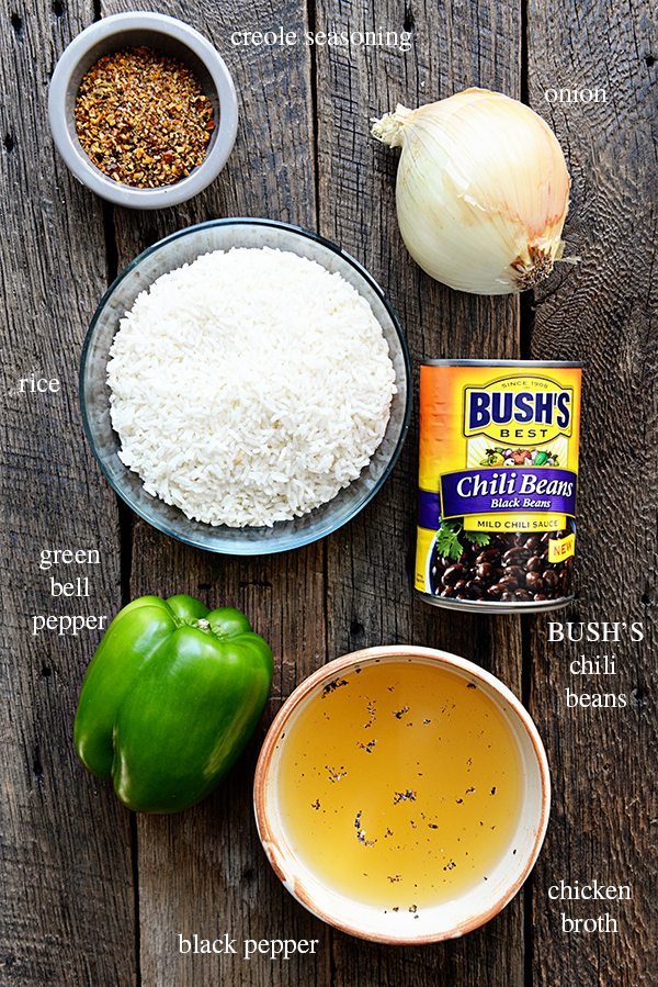 Black Beans and Rice Recipe Ingredients