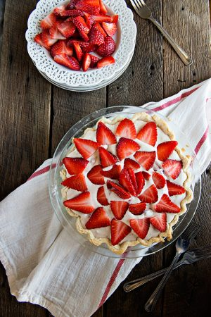 Strawberry Yummy Pie Recipe from dineanddish.net
